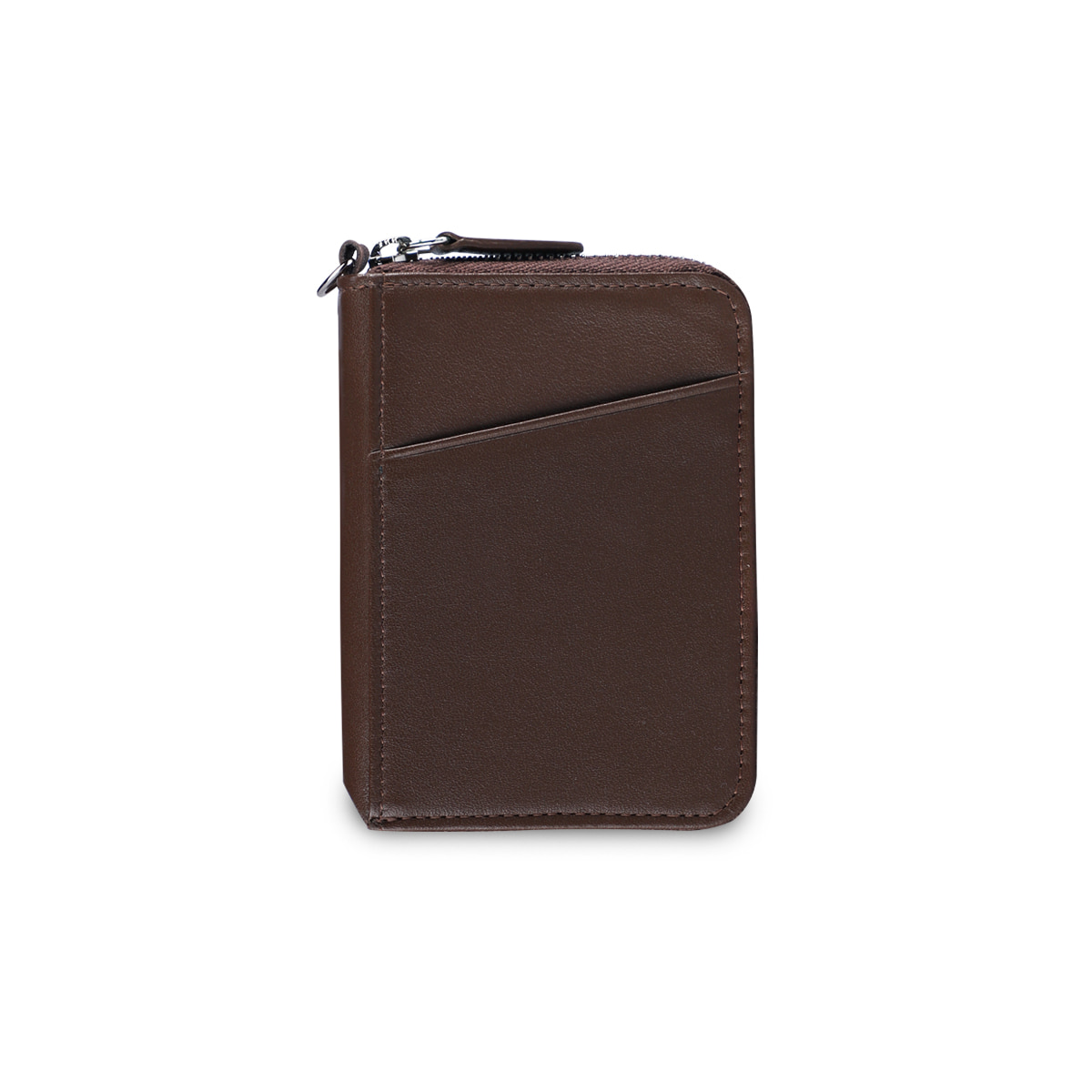 CITY ZIPPER WALLET_BROWN